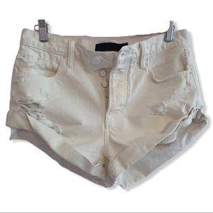 "DENIM X ALEXANDER WANG ""Hike"" Button Fly Shorts"